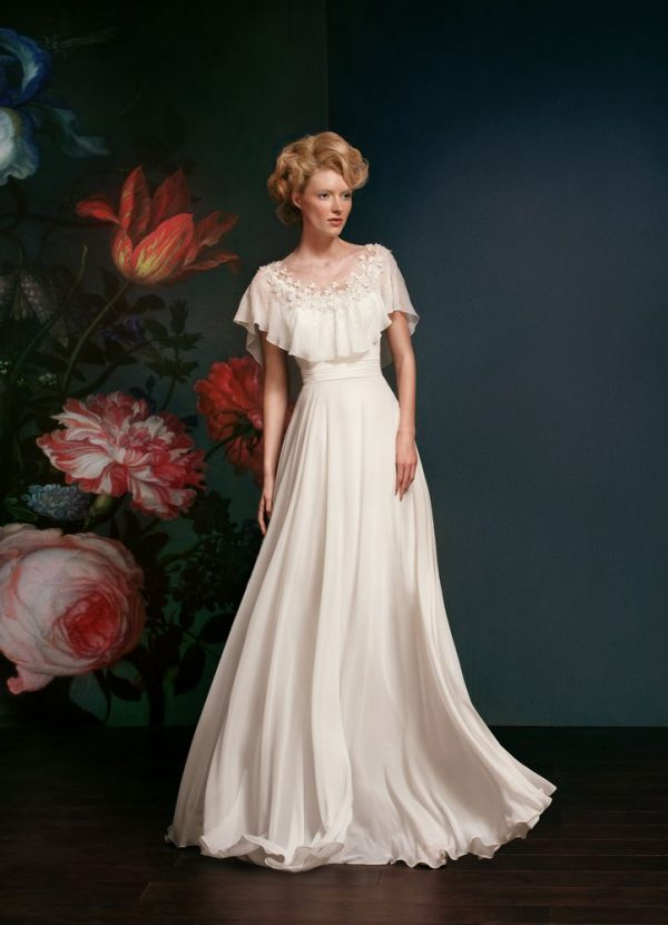 beaded embroidered classic wedding dress bmodish