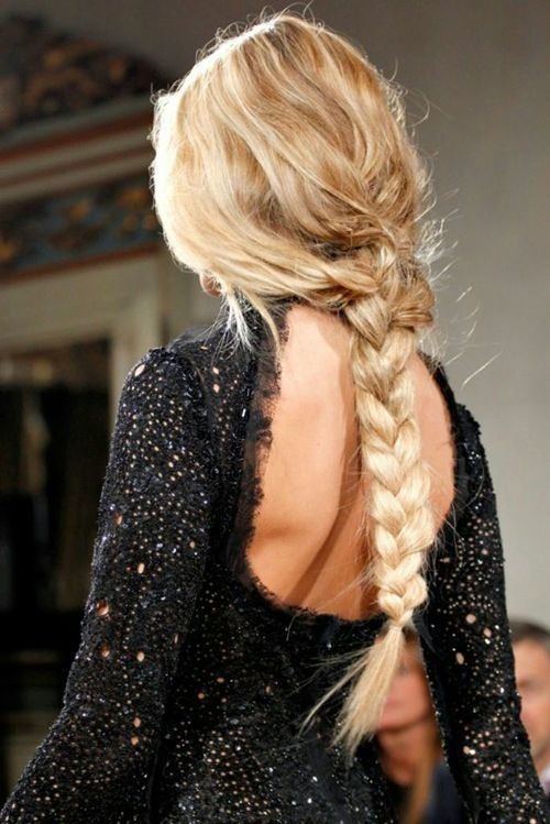 blonde long braid hair bmodish