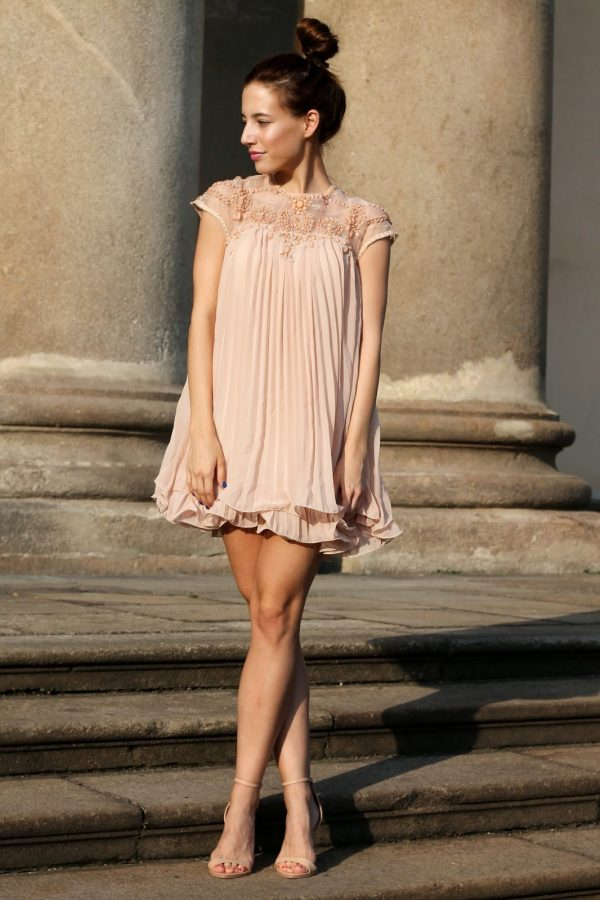 blush summer dress bmodish