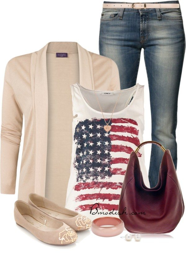 casual patriotic tank top outfit bmodish