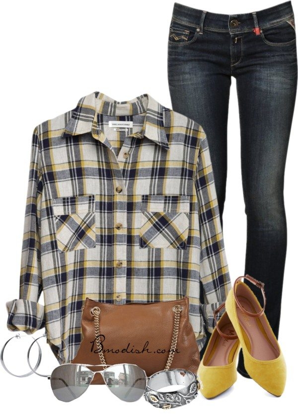 casual plaid shirt outfit idea bmodish