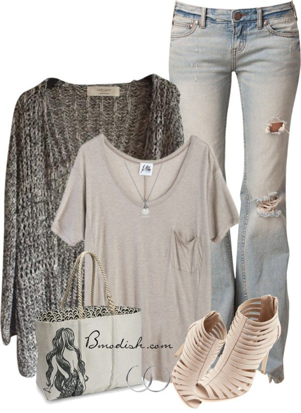 casual polyvore outfit bmodish