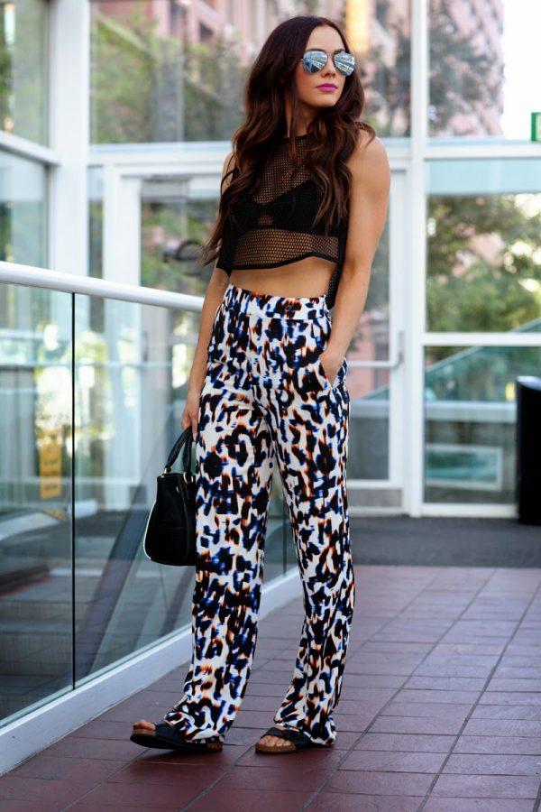 casual printed pants bmodish