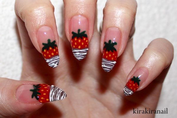 chocolate dipped strawberries nailart bmodish