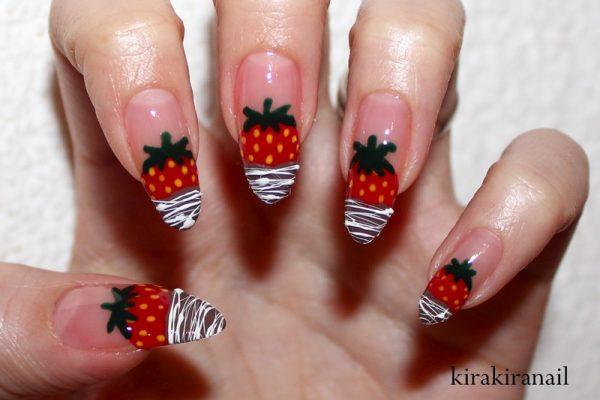 chocolate dipped strawberries nailart bmodish