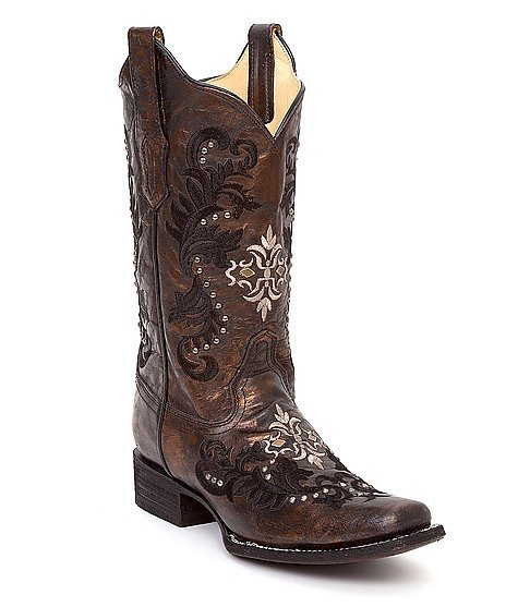 coral embroidered cowgirl boots bmodish