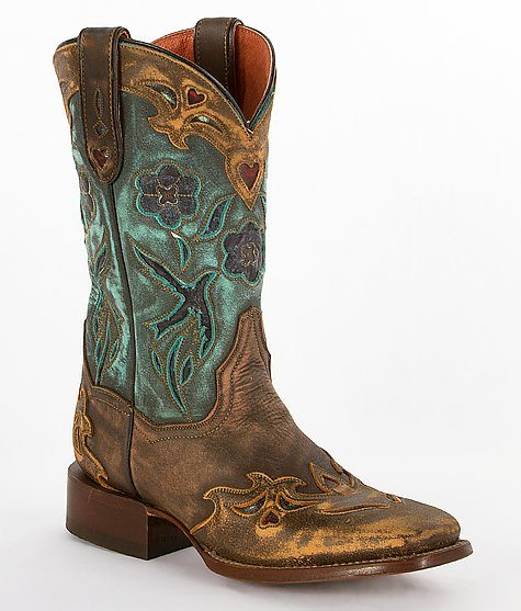 dan post vintage blue bird cowgirl boots bmodish