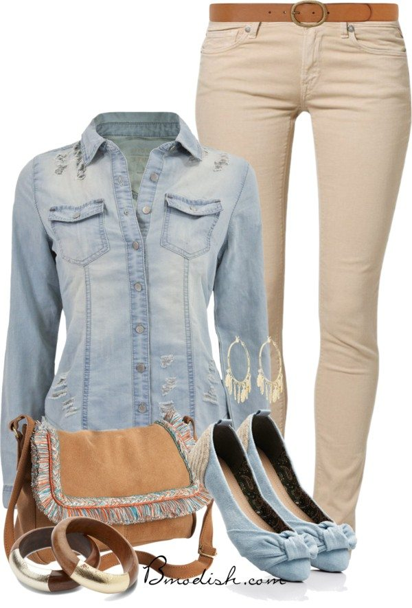 distructed shirt polyvore outfit bmodish