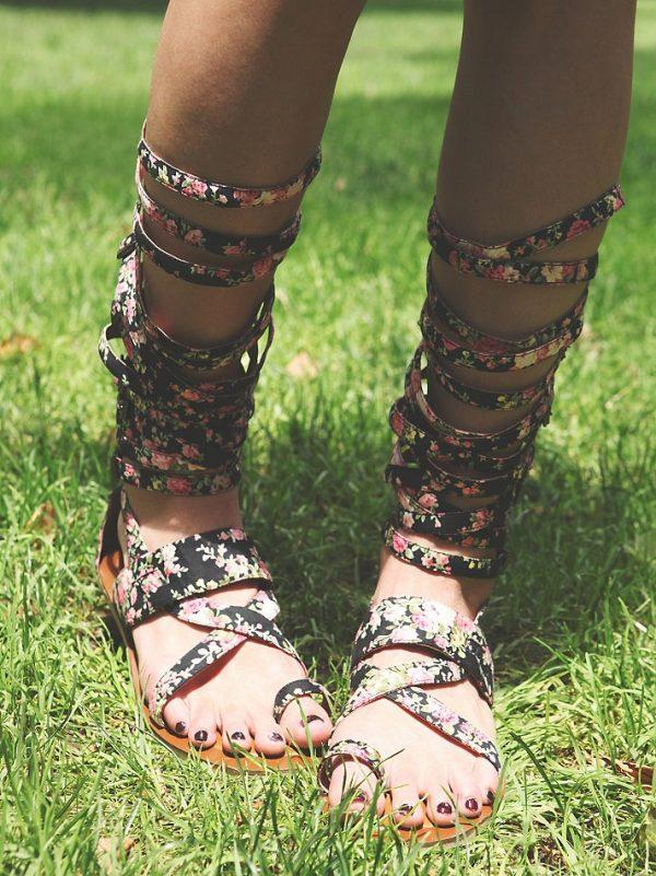 floral gladiator sandals bmodish
