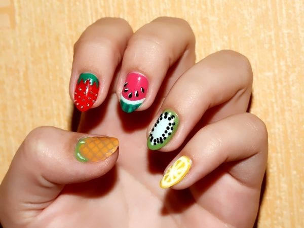 fruits everywhere nailart bmodish