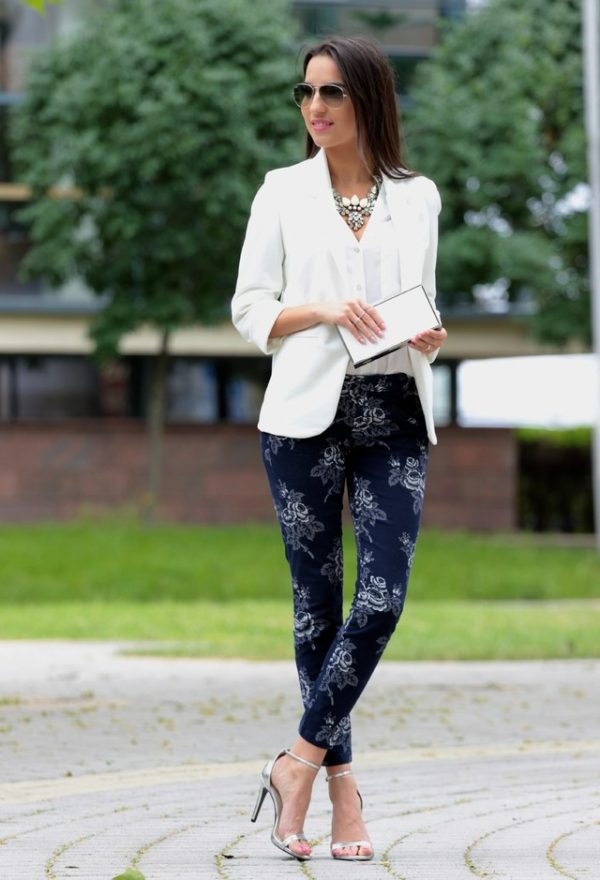 gap pant with white blazer bmodish