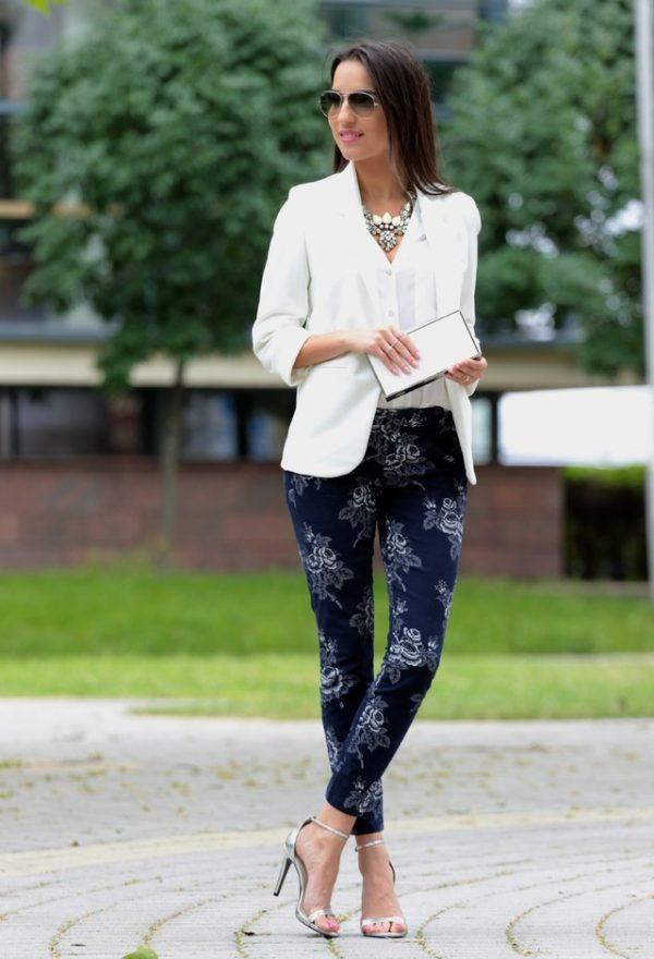 gap pant with white blazer bmodish