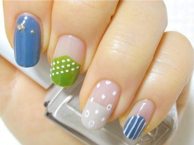 geometric hokuri nail art bmodish