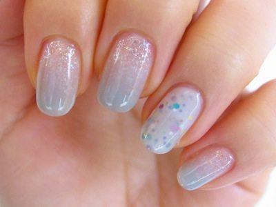glitter ombre japanese nail art bmodish