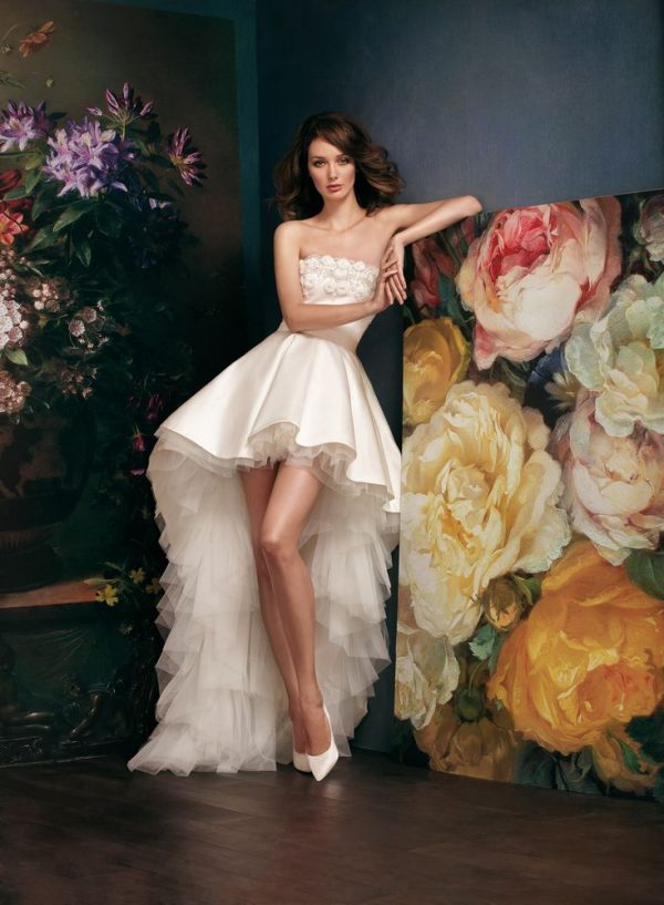 high low short wedding dress bmodish