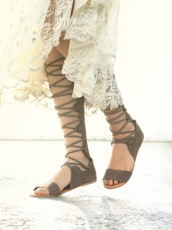 khaki decibel tall sandals