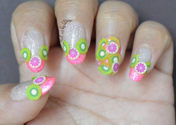 kiwi and citrus nailart bmodish