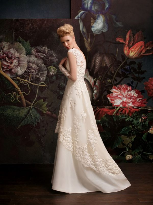 lace multi layered wedding dress bmodish