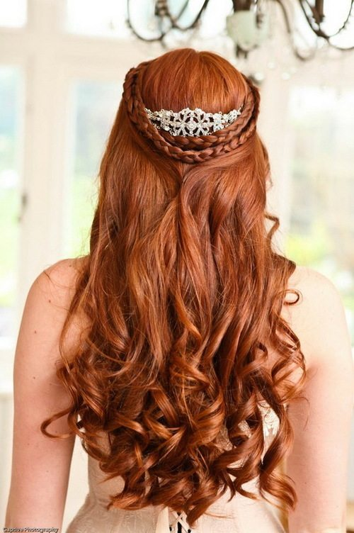long braided prom hairstyle bmodish