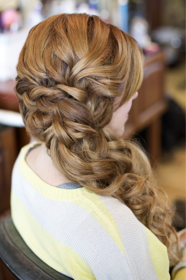 long curly prom hairstyle bmodish