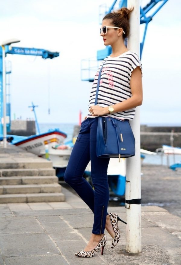 mango-white-choies-dark-blue pants with stripe top bmodish