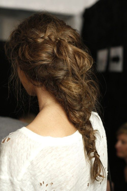 messy braided hair bmodish