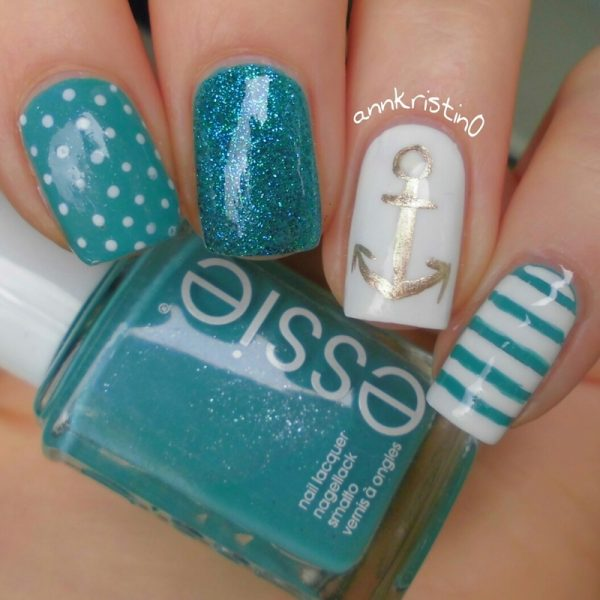 naughty nautical nail art bmodish