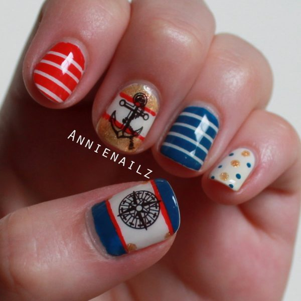 nautical design nail bmodish