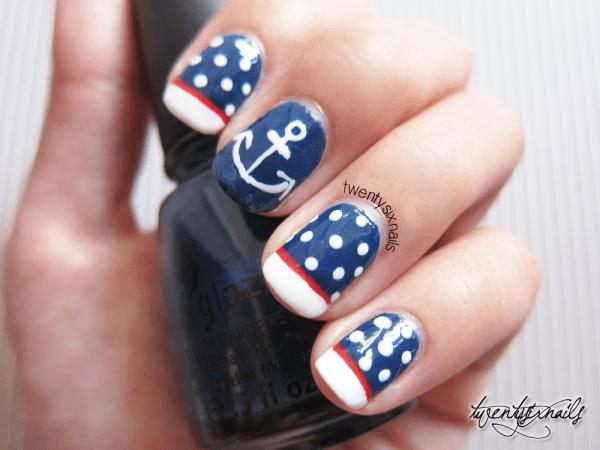 attractive design of nautical nail art be modish
