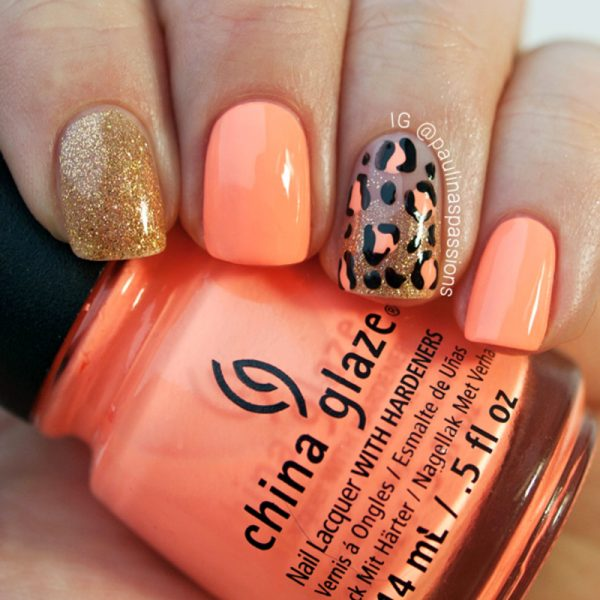 neon leopard print nail design bmodish