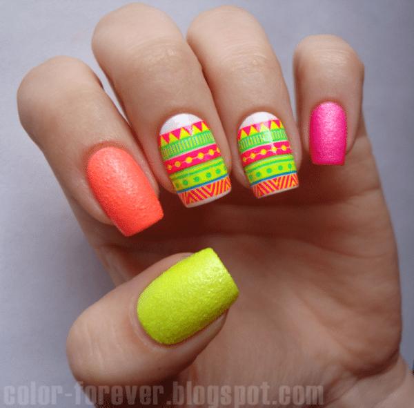 25 Cute Eye Catching Neon Nail Arts Be Modish