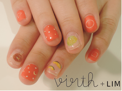 orange fruity nail art bmodish
