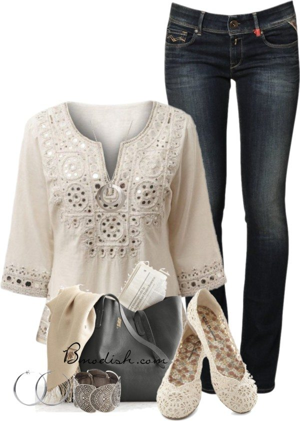 polyvore outfit with tunic bmodish