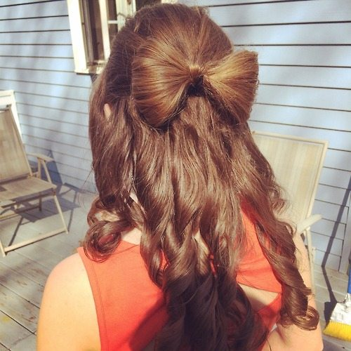 pretty bow prom hairstyle idea bmodish