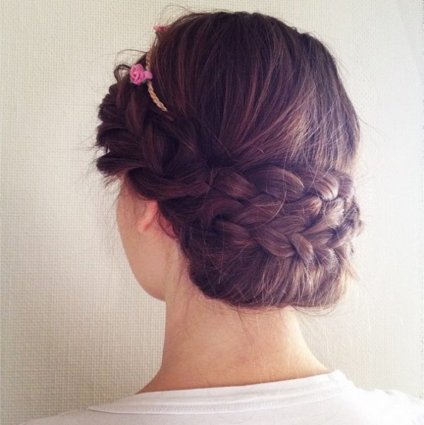 pretty braid prom hairstyle bmodish