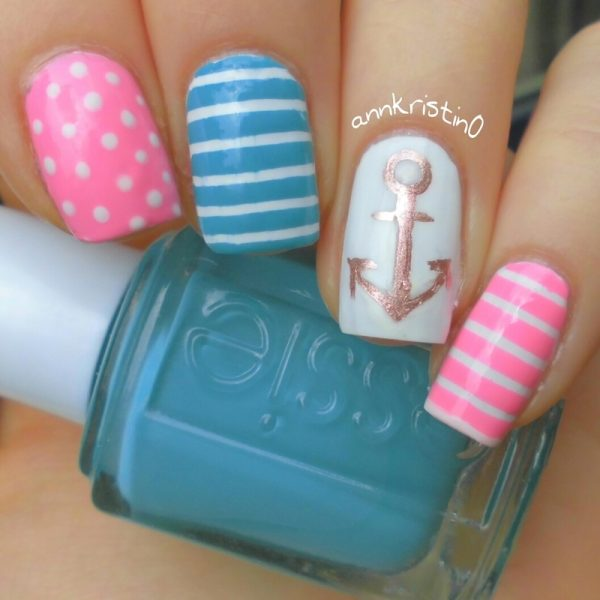 pretty nautical nails bmodish