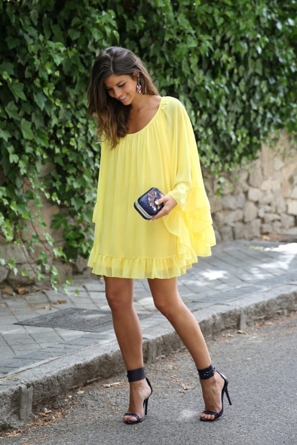 pretty yellow summer dress bmodish