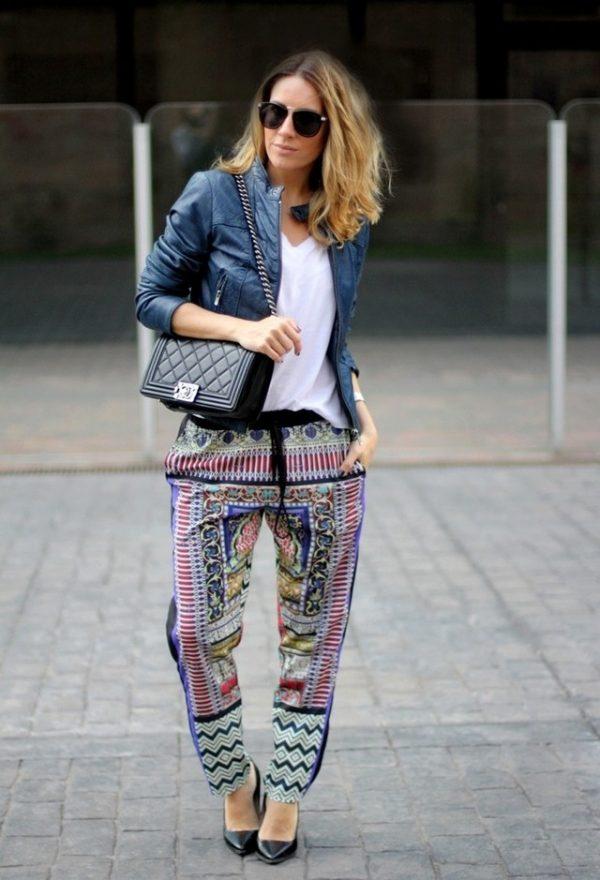 printed loose pants style bmodish
