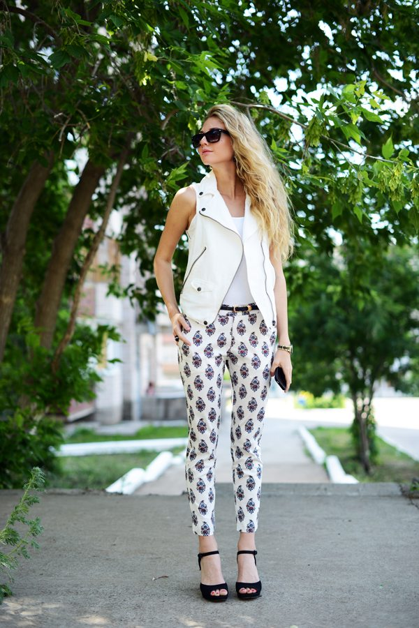 printed pant with vest bmodish