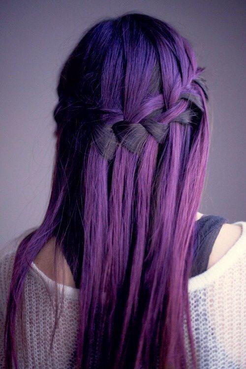 purple braid hair bmodish