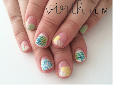 rectangel and stripe nail art bmodish