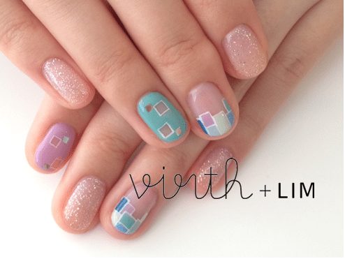 rectangel nail design bmodish