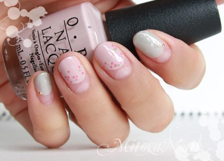 simple polka dot nail art bmodish