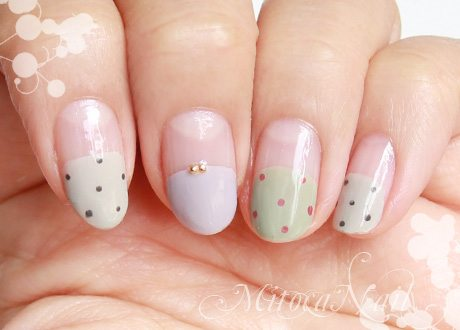 simple polka dot nail art bmodish2