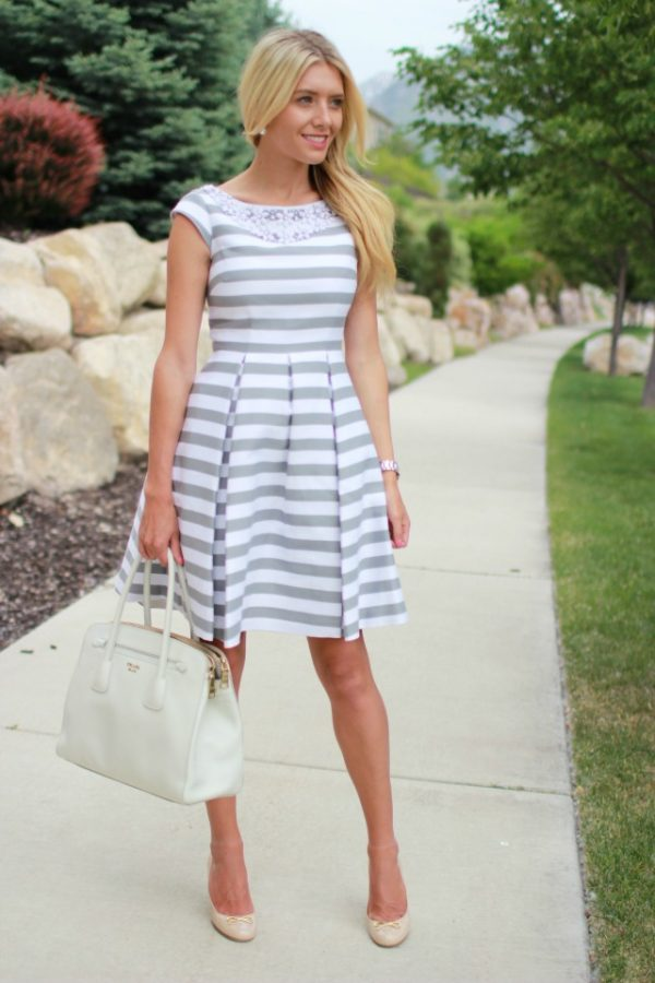 stripe summer dress bmodish