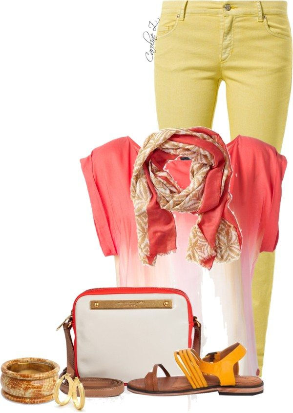 summer scarf outfit polyvore bmodish