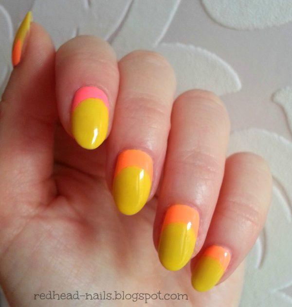 sunny neon nail design bmodish