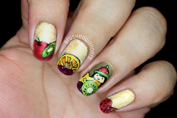 tutty fruitty nail art bmodish