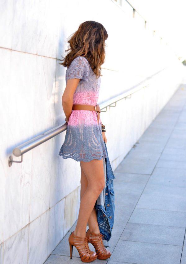 two gradient crochet summer dress bmodish