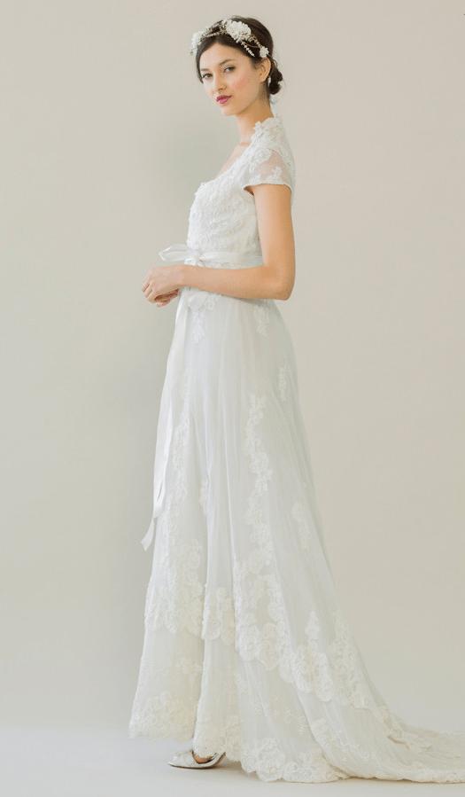 vintage rue de seine wedding dress 18 bmodish